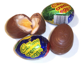 Cadbury Eggs and only 150 calories