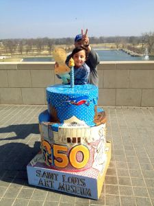 One of the 250 Birthday Cakes Around St. Louis (St. Louis Art Museum)