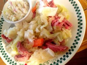 Corned Beef, cabbage and colcannon from my husband