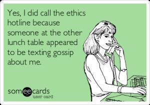 An actual ethics complaint