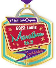 Go! St. Louis Marathon FInisher Medal 2014