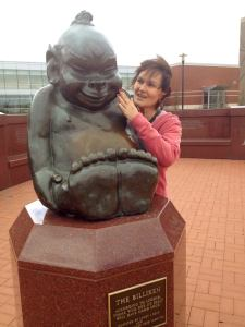 St. Louis University Billiken. You rub his tummy for luck.