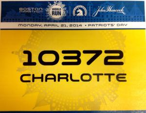Today, I am a Boston Marathoner