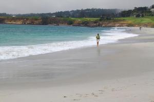 Me on the Beach in Carmel, CA. That's Pebble Beach in the background