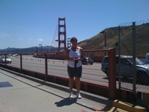 I was still a pretty big girl back in Aug 2010 but I ran over the Golden Gate Bridge and back - 3 miles round trip.