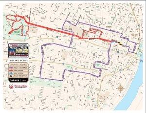 RnR St. Louis Half and Full Marathon Map