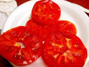 "I had one of my newly bought ""Amish"" tomatoes with my sandwich today"