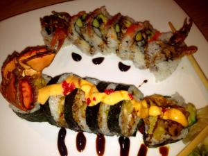 Lobster and Soft Shell Crab Sushi Rolls from Kampai Sushi.