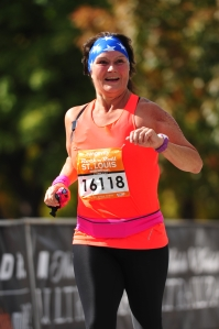 As I Crossed the Finish Line - RnR Marathon STL Oct 19, 2014